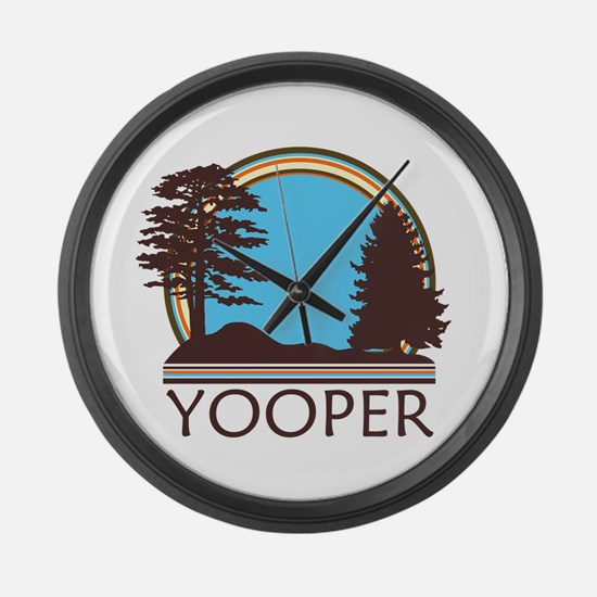 Vintage Retro Yooper Large Wall Clock