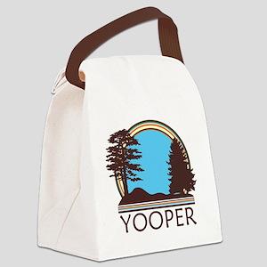 Vintage Retro Yooper Canvas Lunch Bag