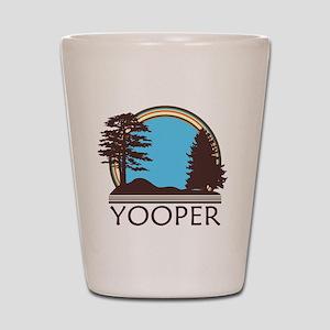 Vintage Retro Yooper Shot Glass