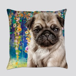 Pug Painting Everyday Pillow