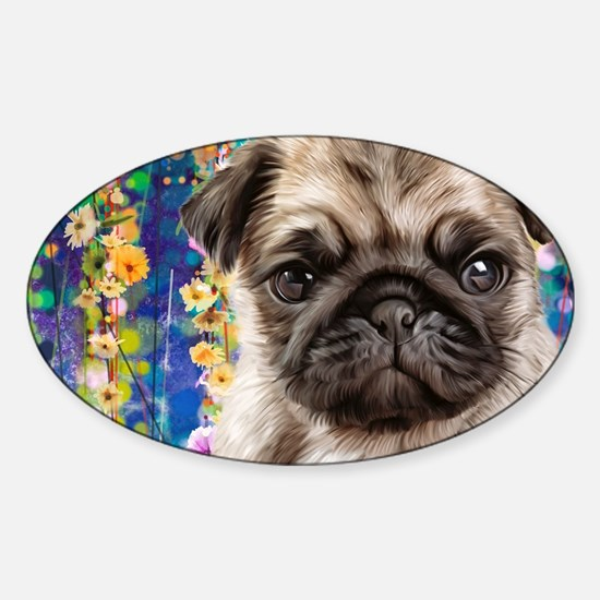 Pug Painting Decal