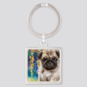 Pug Painting Keychains