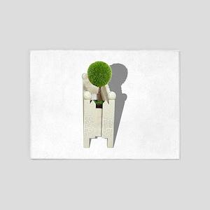MiniatureForest062710Shadows 5'x7'Area Rug