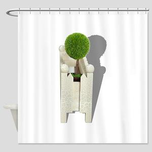 MiniatureForest062710Shadows Shower Curtain