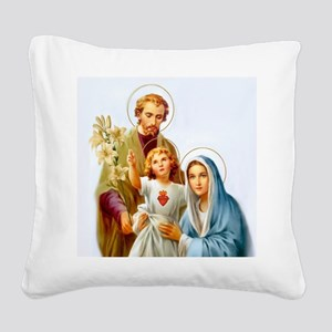The Holy Family Square Canvas Pillow