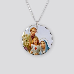 The Holy Family Necklace Circle Charm