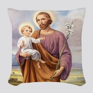 ST. JOSEPH Woven Throw Pillow