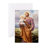 Religion st joseph Greeting Cards (10 Pack)