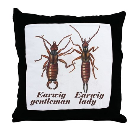 Earwig Throw Pillow