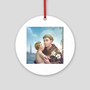 St. Anthony of Padua Ornament (Round)