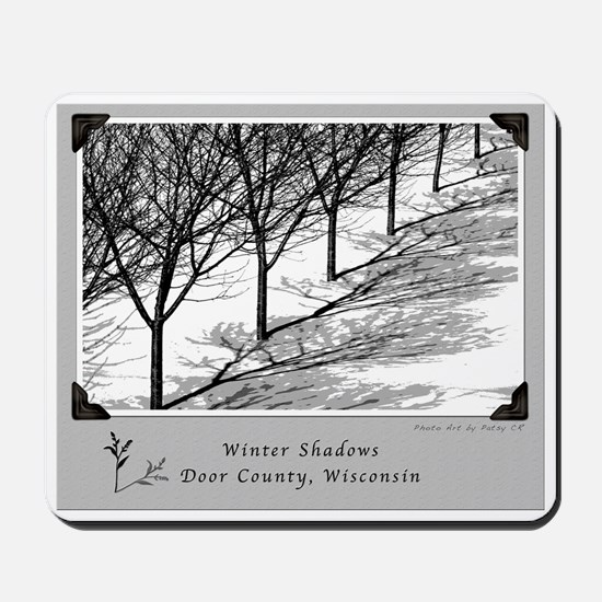 Cherry Orchards Winter Shadows Mousepad