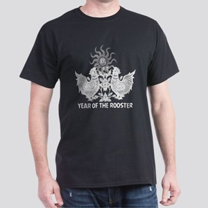 Year of The Rooster Papercut Dark T-Shirt