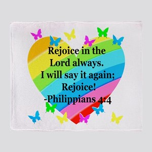 PHILIPPIANS 4:4 Throw Blanket