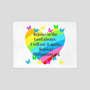 PHILIPPIANS 4:4 5'x7'Area Rug