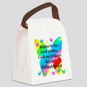 PHILIPPIANS 4:4 Canvas Lunch Bag