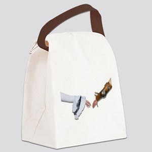 MedievalGraspHands062710Shadows.p Canvas Lunch Bag