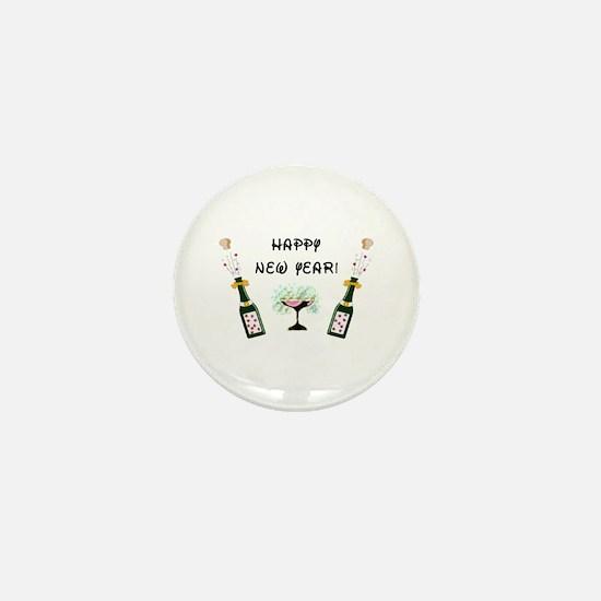 Happy New Year Mini Button