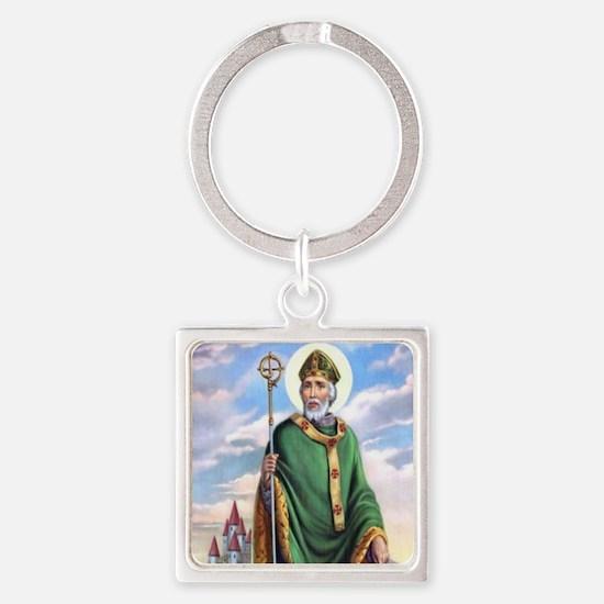 St. Patrick Square Keychain