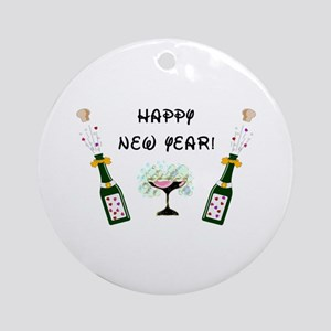 Happy New Year Ornament (Round)