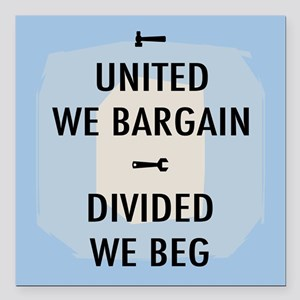 "United We Bargain III Square Car Magnet 3"" x 3"""