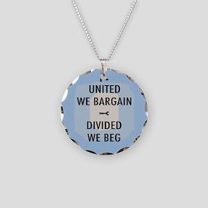 United We Bargain III Necklace Circle Charm