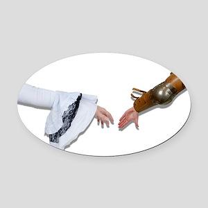 MedievalGraspHands062710Shadows.pn Oval Car Magnet