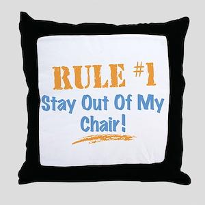 Rule #1 Chair Throw Pillow