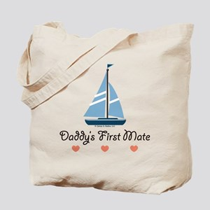 Daddy's 1st Mate Sailing Sailboat Tote Bag