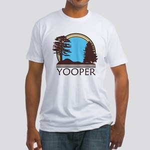 Vintage Retro Yooper Fitted T-Shirt