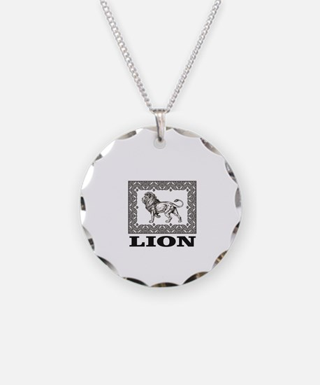 lion in a box Necklace