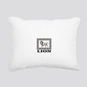 lion in a box Rectangular Canvas Pillow