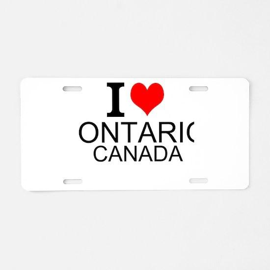 I Love Ontario, Canada Aluminum License Plate