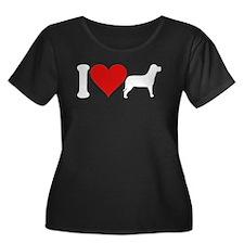 I Love Dogs (design) Women's Plus Size Scoop Neck