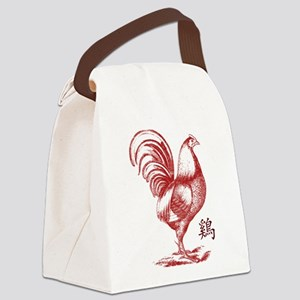 Year of The Chinese Fire Rooster Canvas Lunch Bag