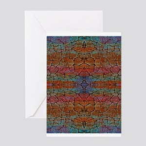 Colorful Cracked Clay Greeting Cards