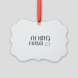 I'm Mom's Favorite Picture Ornament