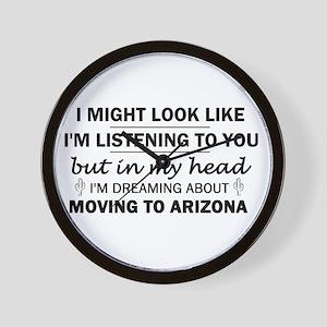 Moving to Arizona Wall Clock
