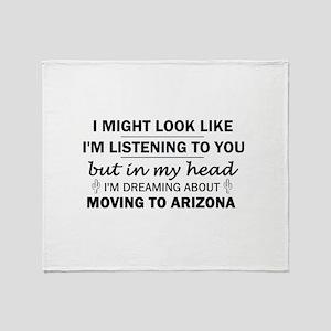 Moving to Arizona Throw Blanket