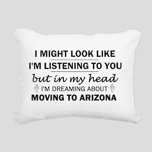 Moving to Arizona Rectangular Canvas Pillow