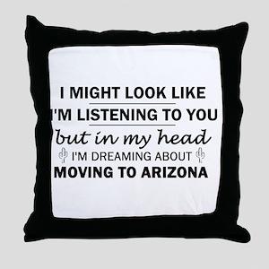 Moving to Arizona Throw Pillow