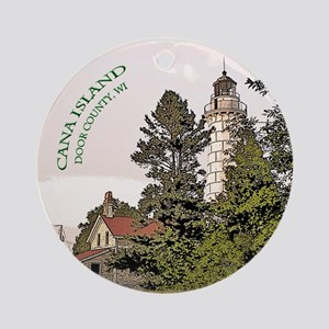 Cana Island Lighthouse Round Ornament