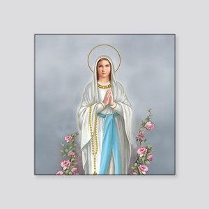 "Blessed Virgin Mary Square Sticker 3"" x 3"""