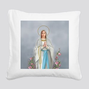 Blessed Virgin Mary Square Canvas Pillow