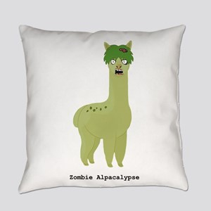 Zombie Alpacalypse Everyday Pillow