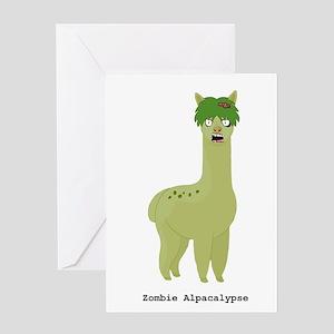 Zombie Alpacalypse Greeting Cards