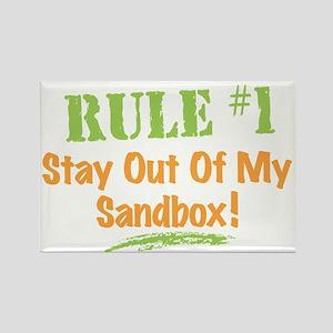 Sandbox Rules Humor Rectangle Magnet