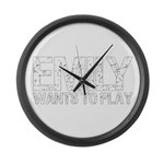 Emily Wants to Play series logo Large Wall Clock