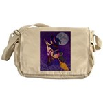 Witch and pussy cat Messenger Bag