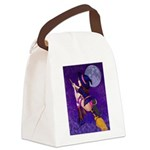 Witch and pussy cat Canvas Lunch Bag