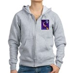 Witch And Pussy Cat Women's Zip Hoodie
